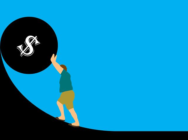 znázornění dluhů